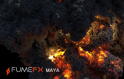 Clouds, fire, smoke and explosions Maya plugin
