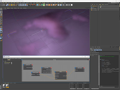 Cinema 4D FumeFX and Expresso Editor