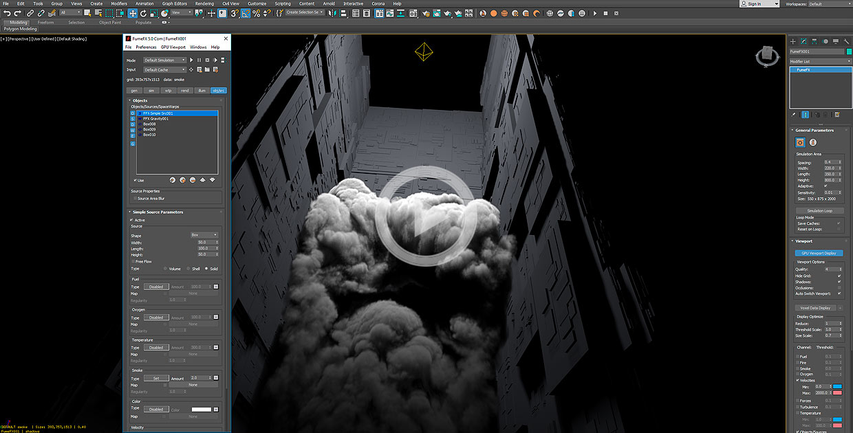 FumeFX for 3ds max workflow